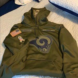 NWOT Los Angeles Rams Salute to Service Sweatshirt